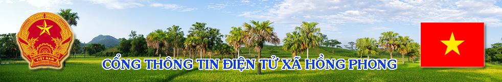 Cổng thông tin điện tử UBND xã Hồng Phong – Ninh Giang – Hải Dương