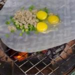 Bánh tráng nướng mỡ hành trứng