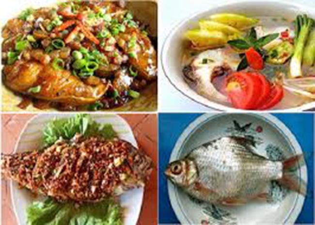 Một số món cá mè sông Mực